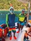 STARFISH Yacht Charter - We have both traditional masks/snorkels as well as the new full face snorkel masks on Starfish.
