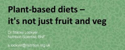Plant-based diets – it's not just fruit and veg