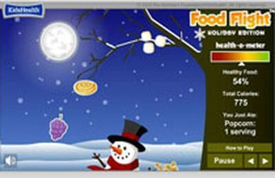 "Juego: ""Food Flight Snowmen"""