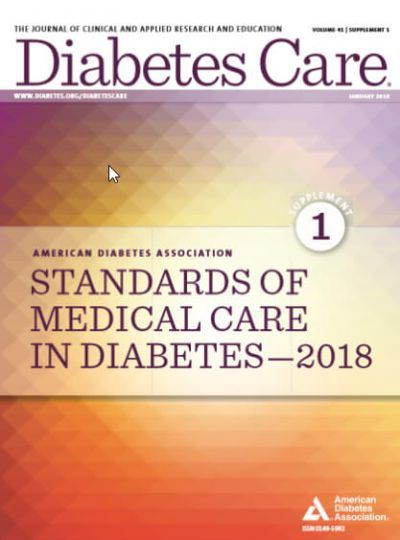Standards of Medical Care in Diabetes-2018