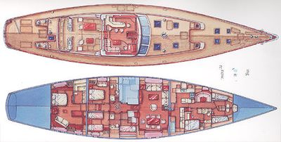 Yacht Charter WHISPER Layout