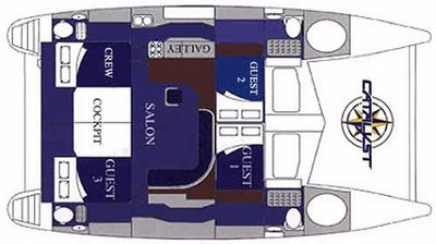 Yacht Charter CATALYST Layout