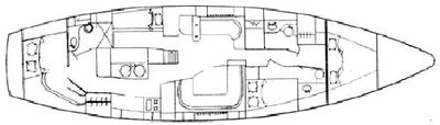 Yacht Charter THE DOVE Layout