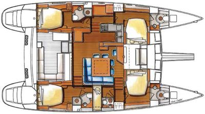 Yacht Charter LE PANTO Layout