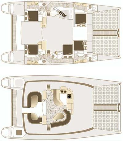 Yacht Charter YES DEAR Layout