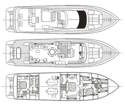 Yacht Charter ANYWAY Layout