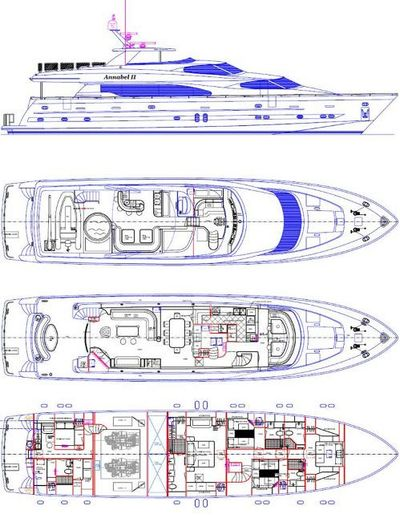 Yacht Charter ANNABEL II Layout
