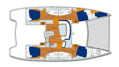 Yacht Charter ALEXIS 3 Layout