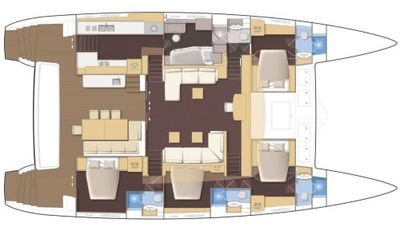 Yacht Charter CROCODILE DADDY Layout