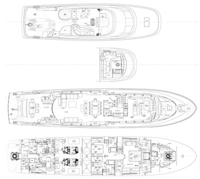 Yacht Charter ALICIA Layout