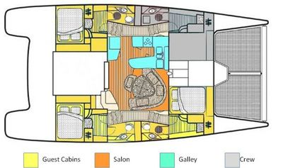 Yacht Charter DREAMING ON Layout