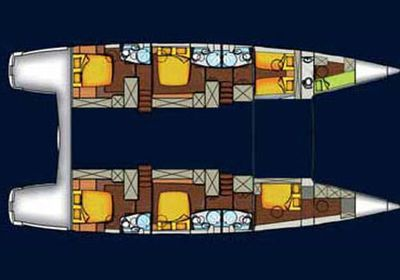 Yacht Charter MOBY DICK Layout