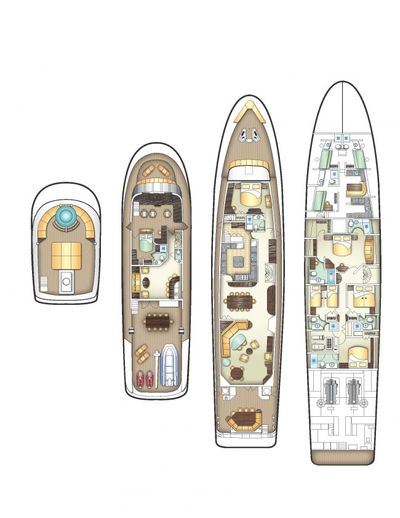 Yacht Charter SWEET ESCAPE Layout