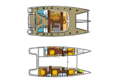 Yacht Charter WORLD'S END (MED) Layout