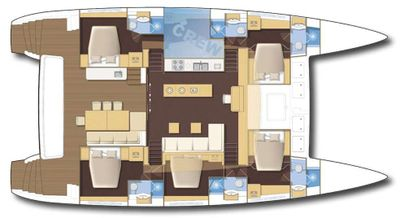 Yacht Charter SAIL AWAY Layout
