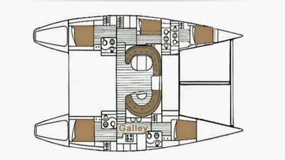 Yacht Charter VISION Layout