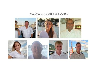 Yacht Charter MILK & HONEY Crew