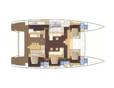 Yacht Charter FOXY LADY Layout