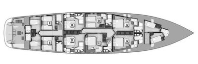 Yacht Charter NAVILUX Layout