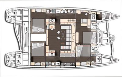 Yacht Charter TRES SUENOS Layout
