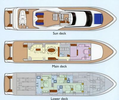 Yacht Charter ABSOLUTE KING Layout
