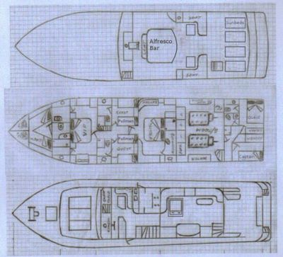 Yacht Charter LADY TATIANA OF LONDON Layout