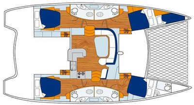 Yacht Charter EXTASEA 2 Layout