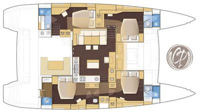 Yacht Charter COPPER PENNY Layout