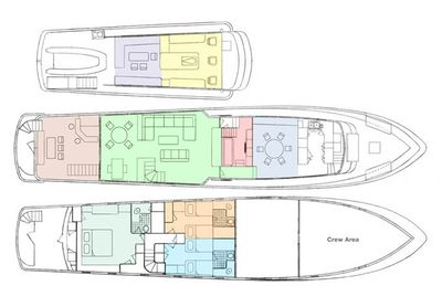 Yacht Charter REFLECTIONS Layout