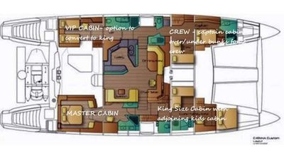Yacht Charter ORION 90 Layout