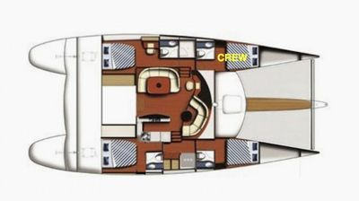 Yacht Charter DELPHINE Layout