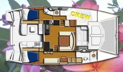 Yacht Charter BLOSSOM Layout