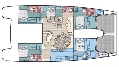 Yacht Charter GOOD VIBRATIONS L62 Layout