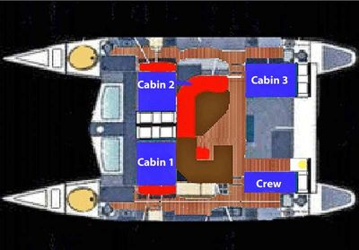 Yacht Charter RUBICON Layout