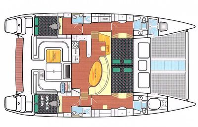 Yacht Charter PARADIGM SHIFT Layout