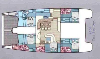 Yacht Charter THE BIG DOG Layout