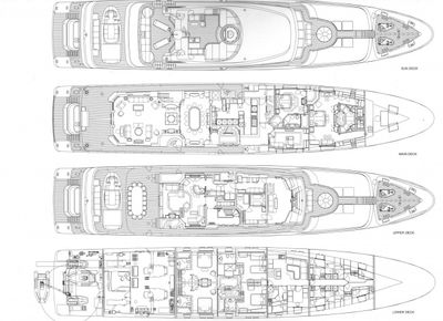 Yacht Charter MOSAIQUE Layout