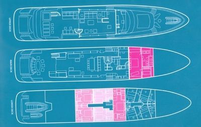 Yacht Charter BARENTS SEA Layout