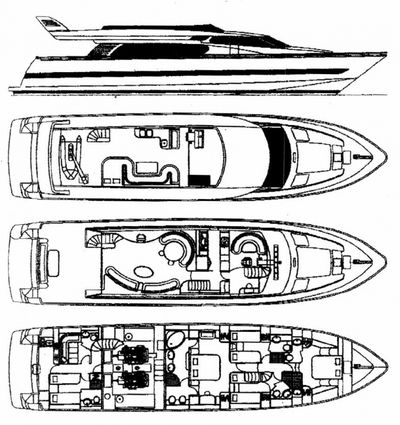 Yacht Charter VOGUE Layout