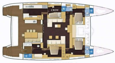 Yacht Charter SERENITY NOW Layout