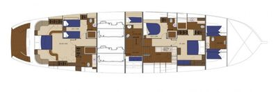 Yacht Charter MISS B Layout