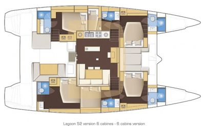 Yacht Charter SERENITY Layout