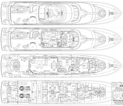 Yacht Charter PLAN A Layout
