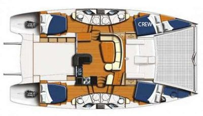 Yacht Charter STARFISH Layout