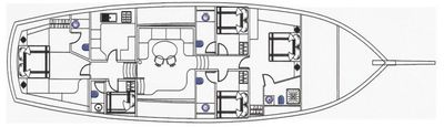 Yacht Charter DEA DEL MARE Layout