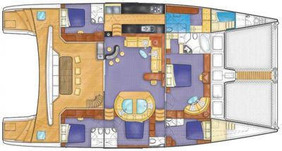 Yacht Charter KINGS RANSOM Layout