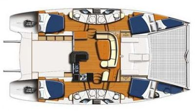 Yacht Charter KNOT ANCHORED Layout