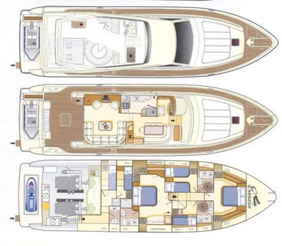 Yacht Charter MARY Layout