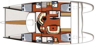 Yacht Charter WHALE Layout
