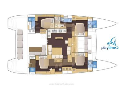 Yacht Charter PLAYTIME Layout